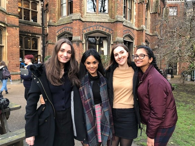 Congratulations To Our Champion Debaters Mia Toni Beth And Kim For Making It To The Debating Finals At The Oxford University Union