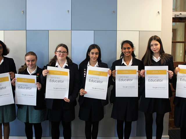 Digital Leaders celebrate passing Google Certified Educator Level 1 qualification